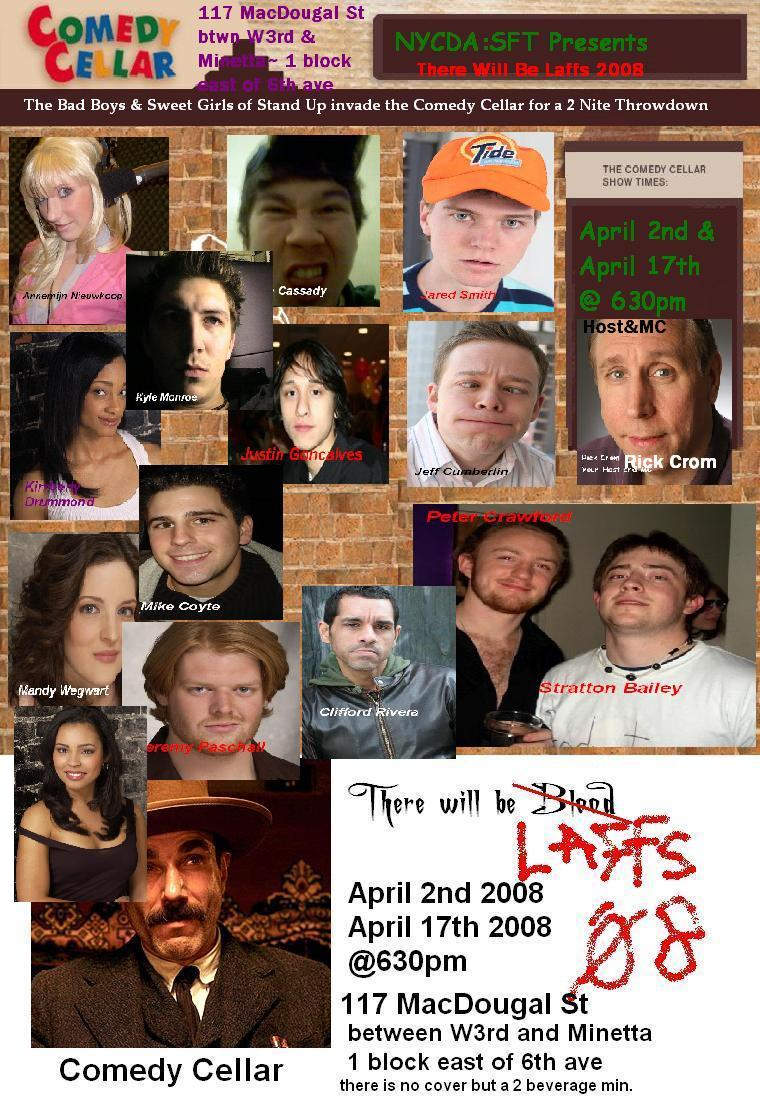 """Poster for """"Laffs 2008"""" Comedy Cellar NYC"""
